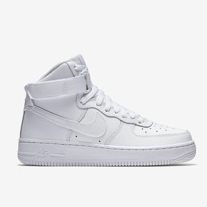 White Nike Airforce 1 High tops